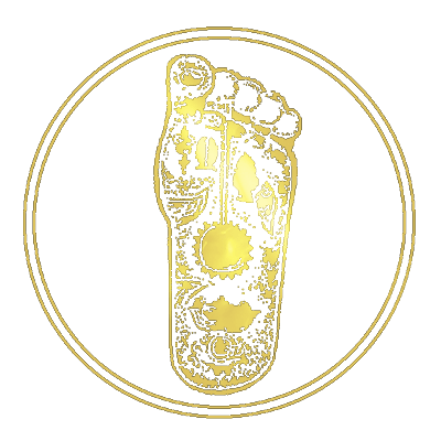 gold foot icon