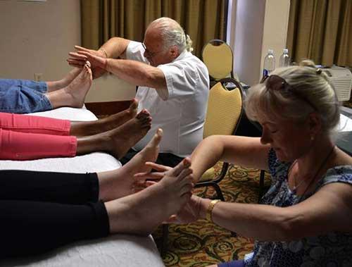 Sharon and Moss foot reflexology
